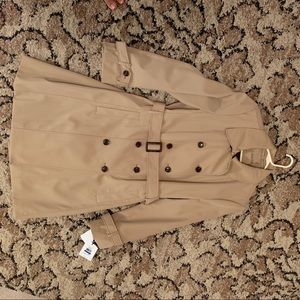 Calvin Klein Double Breasted Trench Coat -Khaki